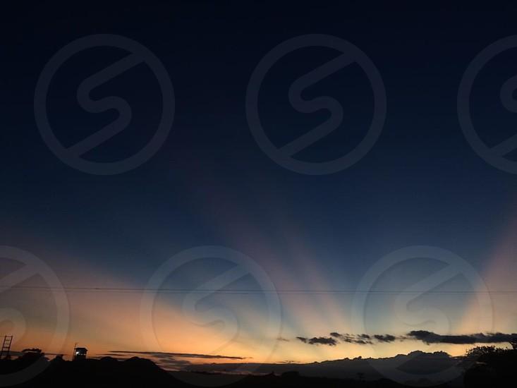 Sunset in summer photo