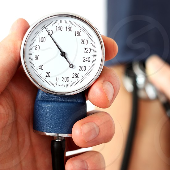 Measuring the normal blood pressure photo