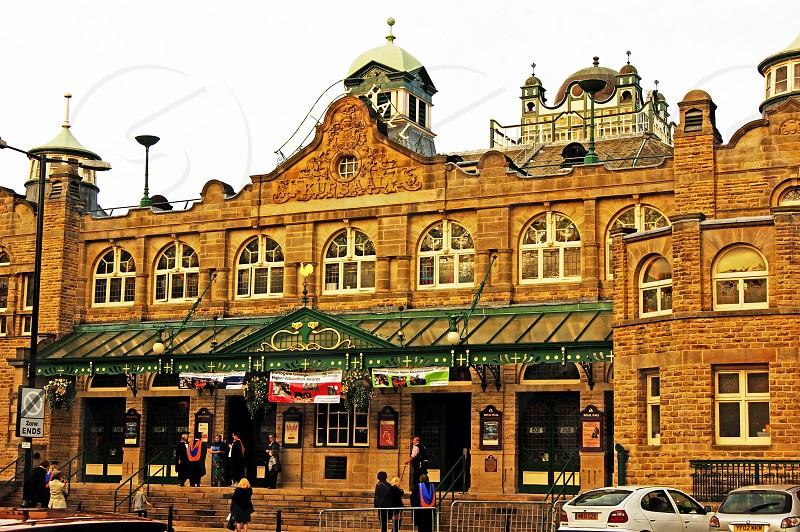 UK. ENGLAND. HARROGATE Yorkshire. The Victoria Hall venue for shows and exhibitions.  photo