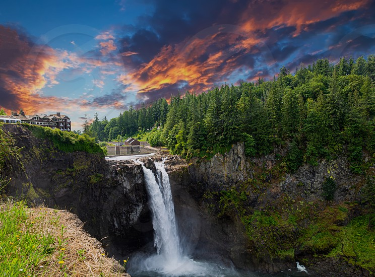 There are many epic waterfalls around the world and unfortunately I haven't shot many of them. Snoqualmie falls near Seattle is one that I have had the chance to shoot several times and I never get tired of the view. It's one of the few that you get a view from the same level rather than just below or above. photo