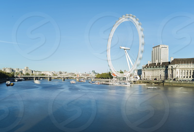 The eye Symbol of London. Blue sky  photo