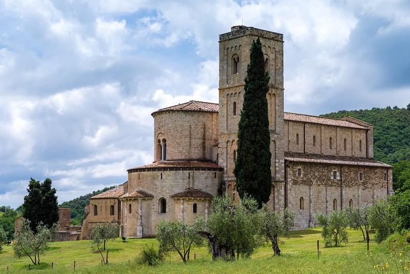 Sant Antimo Abbey in Montalcino Tuscany photo