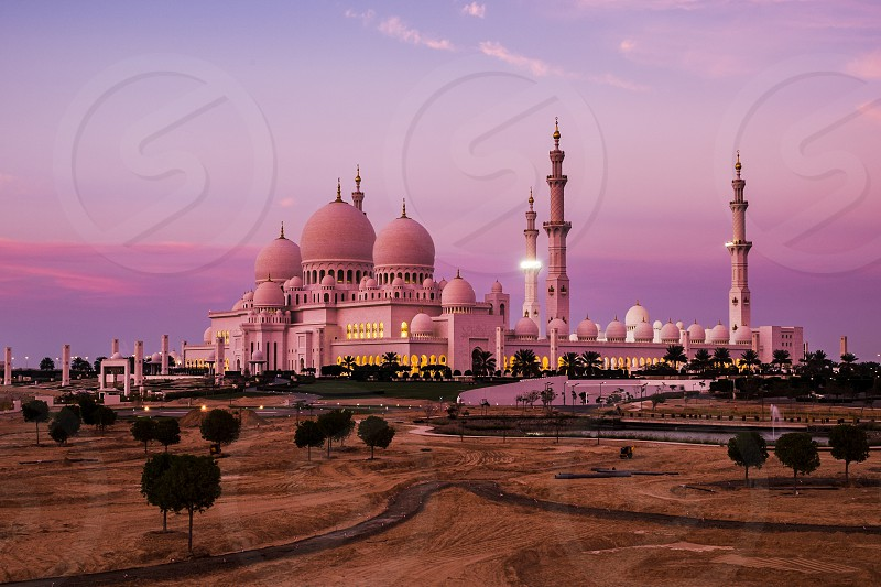 Shiekh Zayed grand mosque United Arab Emirates. photo
