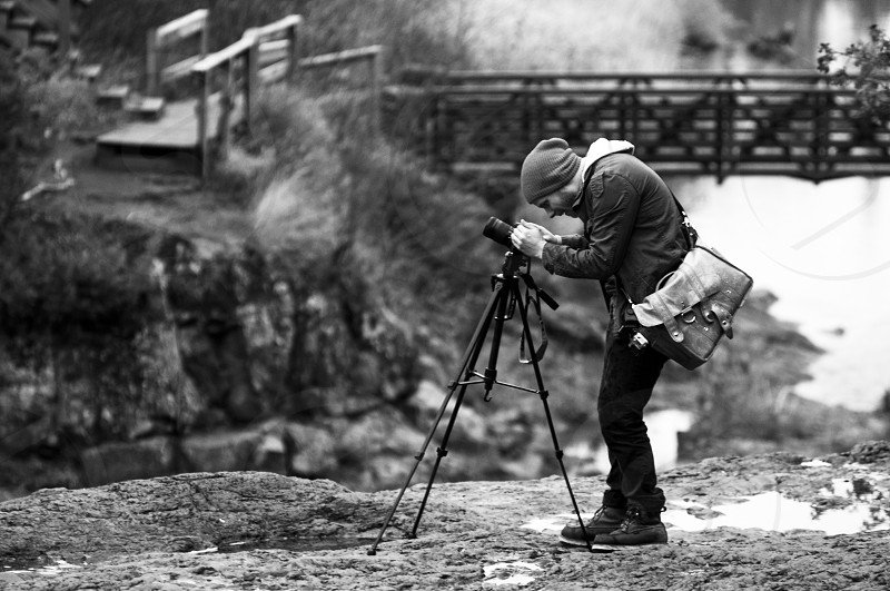 Photographer at work. photo