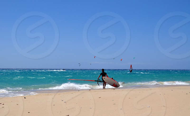 Surfing and kiting on Fuerteventura island amazing trip photo