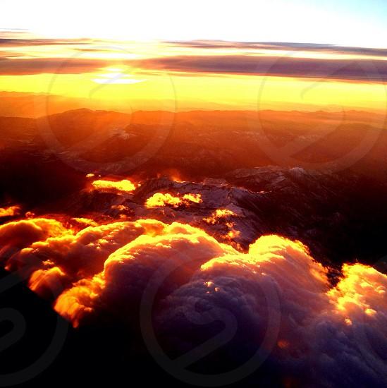 Orange Sunrise: Sierras photo