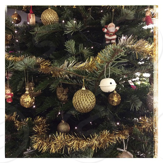 Christmas tree and ornaments photo