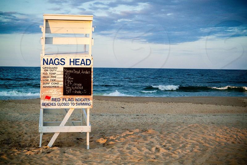 nags head life guard ocean beach shore photo