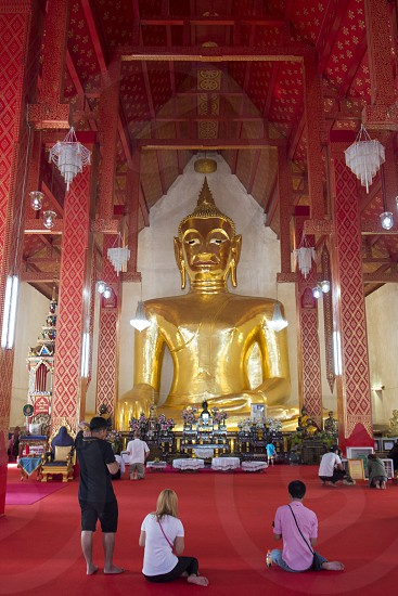 the wat Si Khom Kham in the city of Phayao in North Thailand. photo