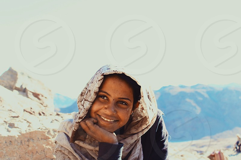 Bedouin Smiley Beautiful Girl . Egypt photo
