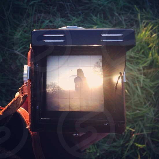 woman's silhouette on screen photo