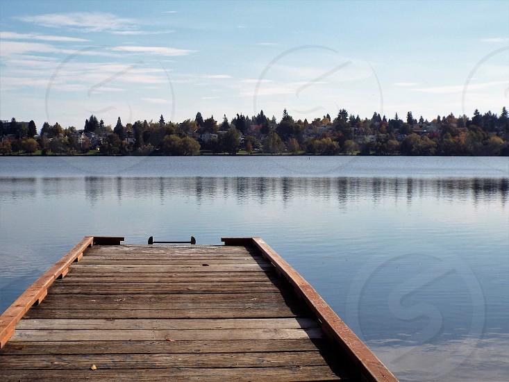 Pier leading to lake. photo