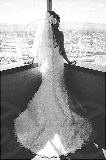 Bridal portrait Las Vegas wedding dress  photo