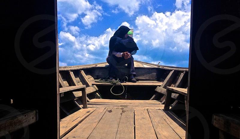 Boater in Krabi Thailand photo