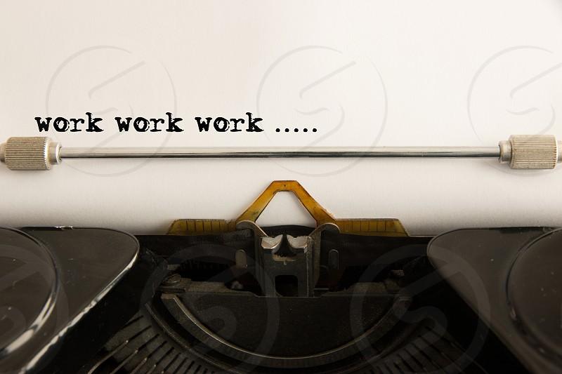 Work Typewriter Typing Font Character Vintage photo