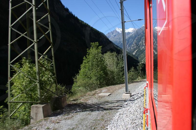 On the way to Zermatt Switzerland.  photo