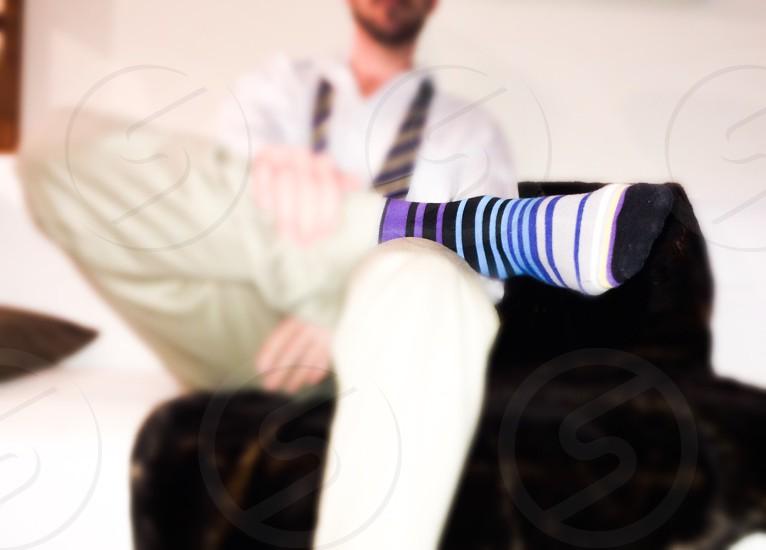 Colorful socks photo
