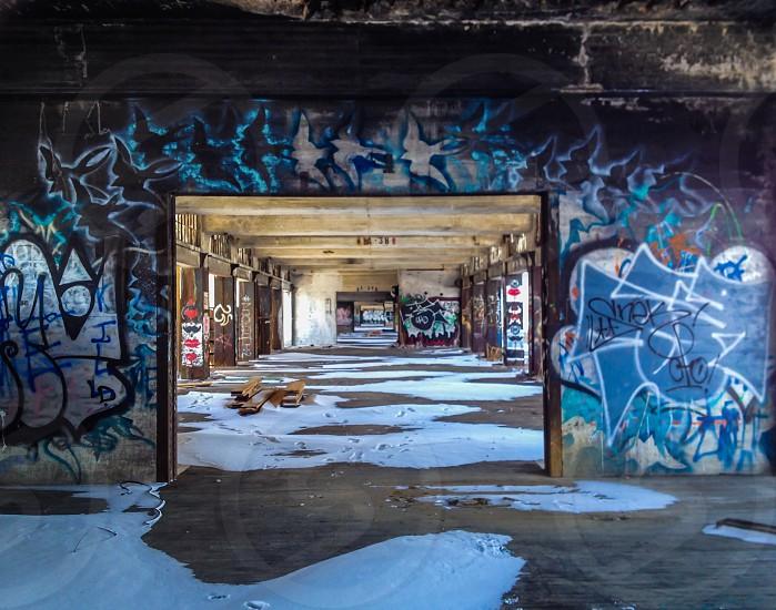 graffiti covered walls photo