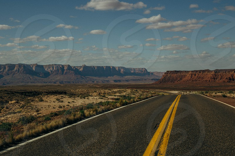 Road to Vermillion Cliffs National Monument Arizona USA.  photo