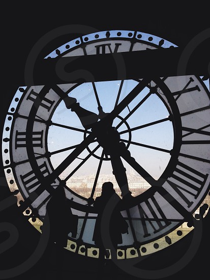 Clock tower at the Musée d'Orsay photo