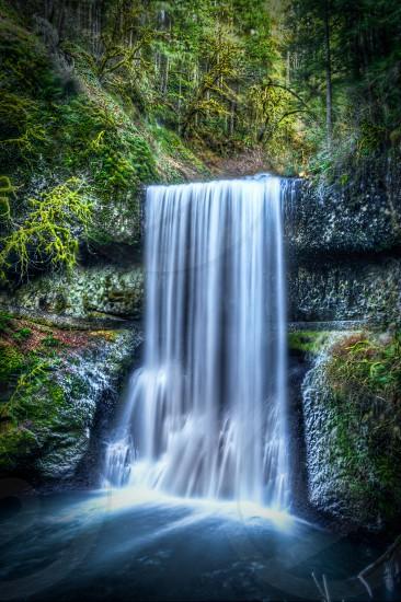 Waterfall long exposure photo