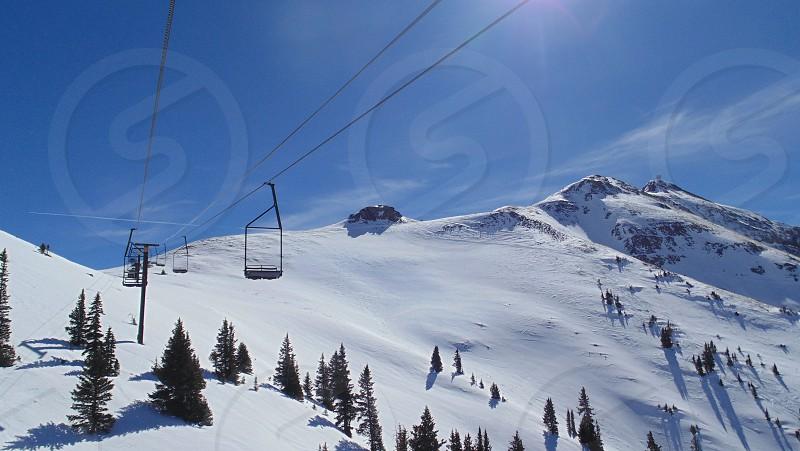 Silverton Colorado 2manlift skiing photo