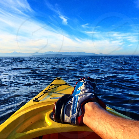 Point of view kayaking  photo