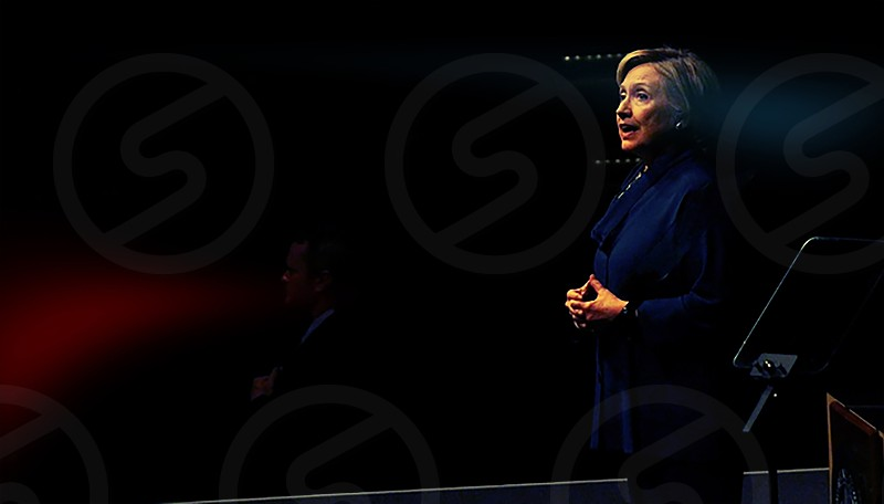 Hilary Clinton giving a speech photo