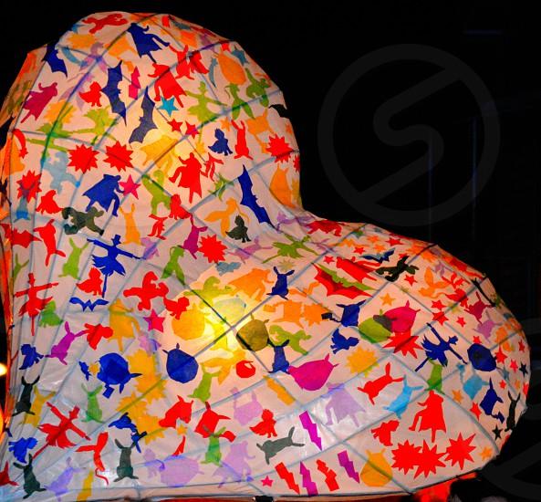 Colorful paper lantern photo