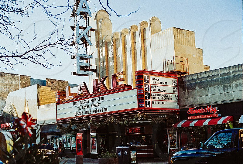 Took this photo with my Manual Minolta Film Camera. Old school theater. photo