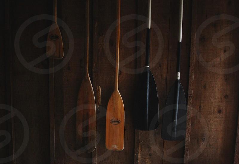 Canoe oar paddle cabin life adventure explore photo