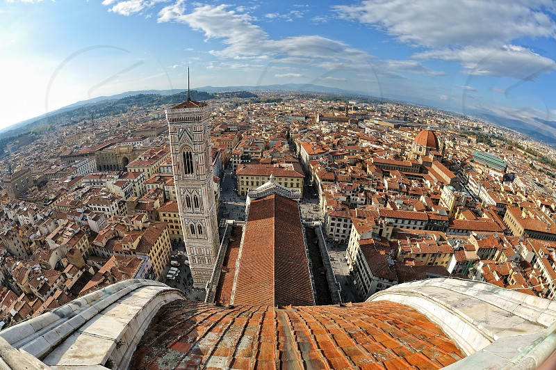 Florence Italy view from the Duomo Cathedral photo