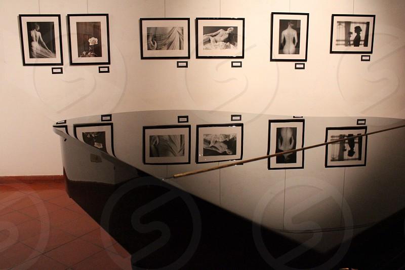black framed human portrait  photo
