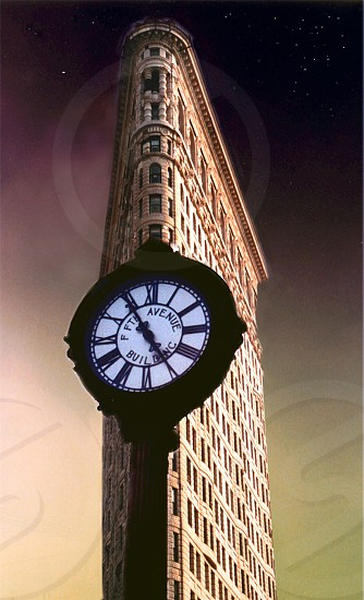 Round Watch in front of Flat Iron Tower (NYC) photo