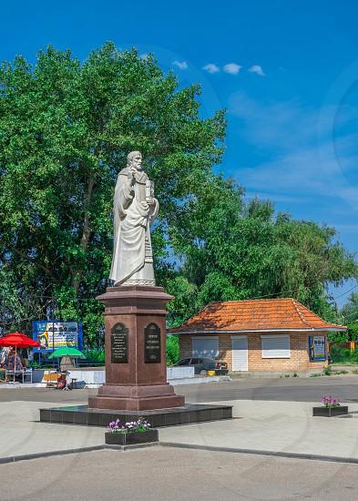 Vilkovo Ukraine - 06.23.2019. Monument to St Nicholas the Wonderworker in the village of Vilkovo Ukraine. photo