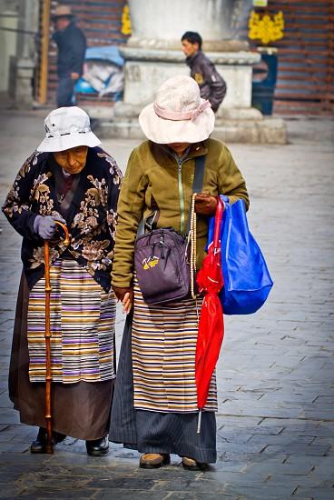 Mother Daughter Llasa Tibet China photo