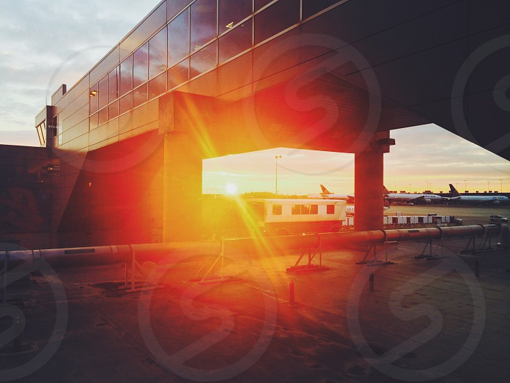 Phenomenal sunrise after a red-eye layover in D.C. #airtravel #jetset #DC  photo