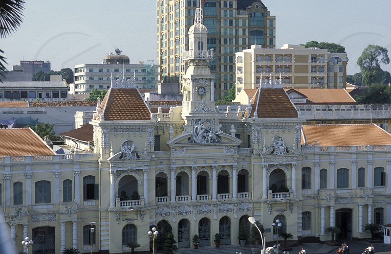 Hotel de Ville or Parliament in the city of ho chi minh city in Vietnam photo
