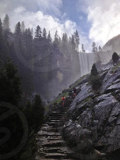 Hiking the Mist Trail Yosemite National Park. Outdoors. Waterfall. Explore. Wander.  photo