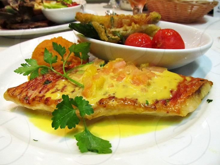 Pan Fried Fillet of Red Snapper photo