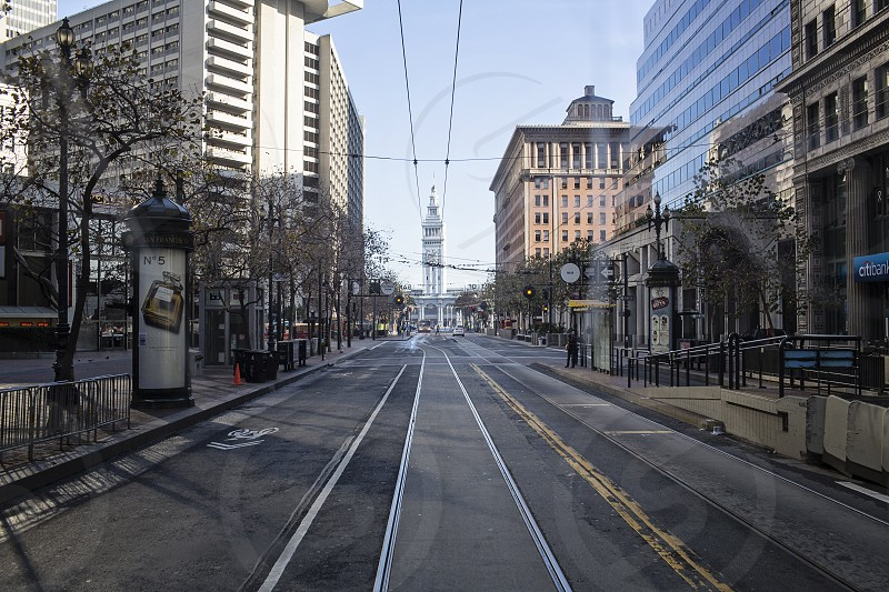 San Francisco rail lines. USA San Francisco transport rail tram travel tourism visit city weekend things to do.  photo