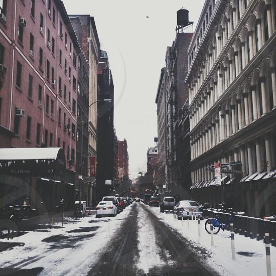 Snowy New York City street photo