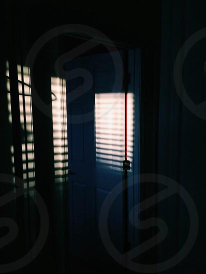white painted door photo