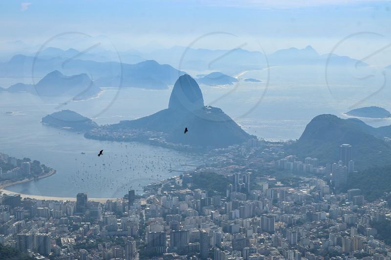 Rio de Janeiro from top mountain photo