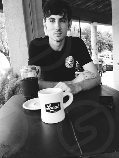 Daniel Clark taken by: klarissa castillo at local coffee San Antonio tx.  photo