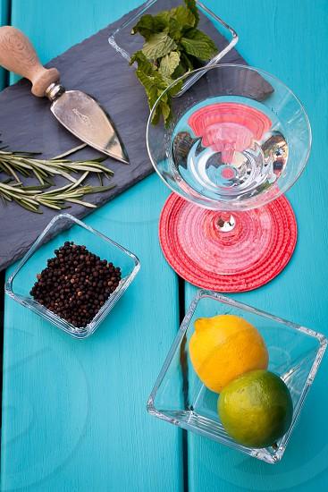 Gin Botonicals spring herbs  photo