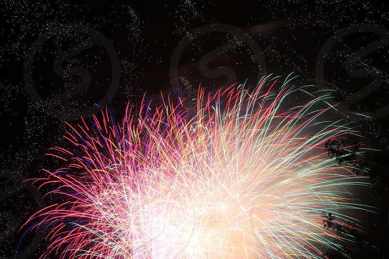 July 4th Independence Day Fireworks Colors photo