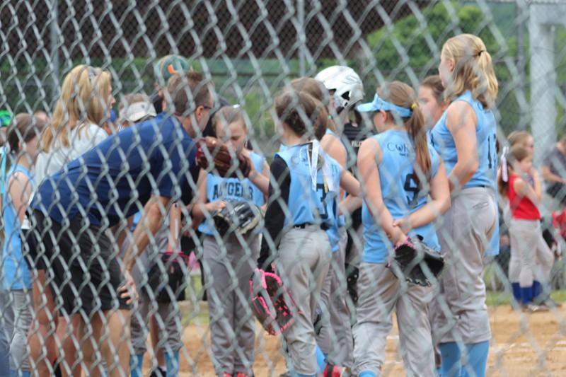 Softball team sports summer fun exercise kids photo