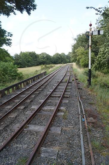 Railway rail road  photo