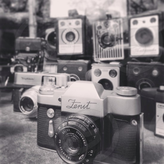 Old school cameras. Love these things.  photo